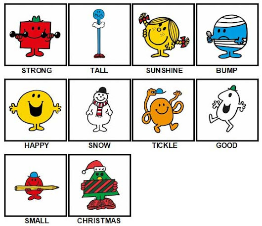 100 Pics Mr Men Answers | 100 Pics Answers
