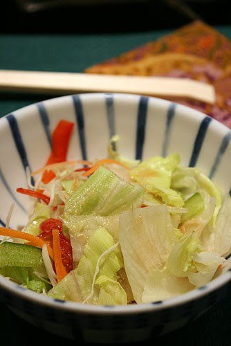 Crisp salad with tangy ponzu dressing