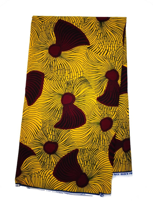 African fabric Yellow African print Fabric African fabric by