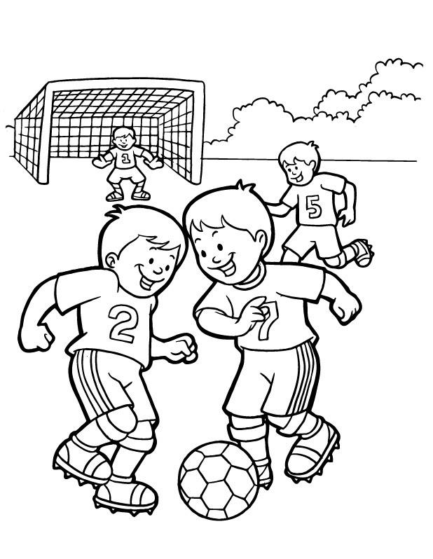 Dibujos Para Colorear De Futbol