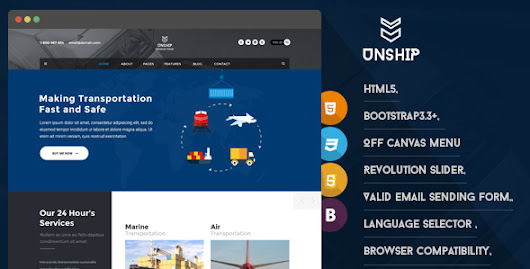 Unship - Transport HTML5 Responsive Template
