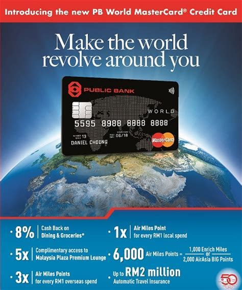 Public Bank Credit Card Promotion   PB World MasterCard