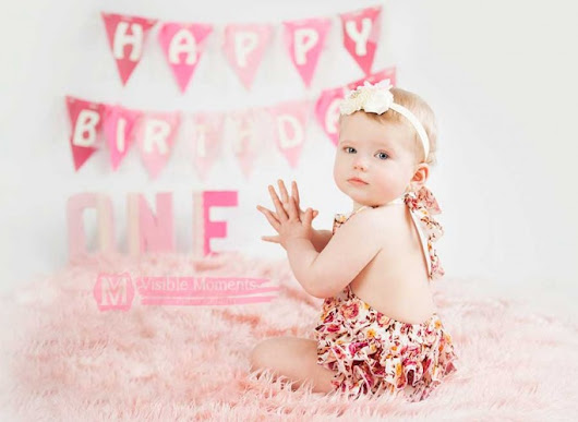 First birthday photos of a little girl
