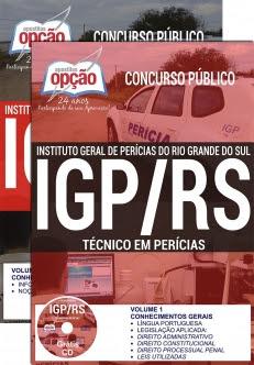Concurso IGP RS 2017-TÉCNICO EM PERÍCIAS-PERITO MÉDICO-LEGISTA (COMUM A TODOS) - PSIQ. E PAT. FORENSE-PERITO MÉDICO-LEGISTA-PERITO CRIMINAL (COMUM A TODAS AS ÁREAS)