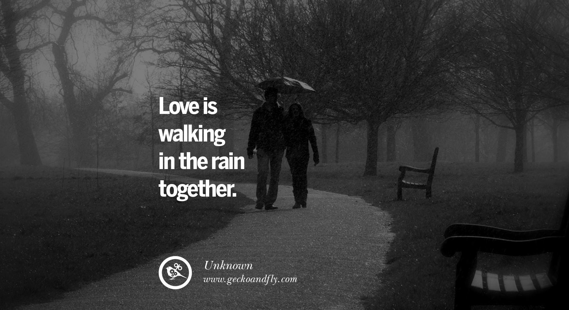 Best of Quote About Rain And Love