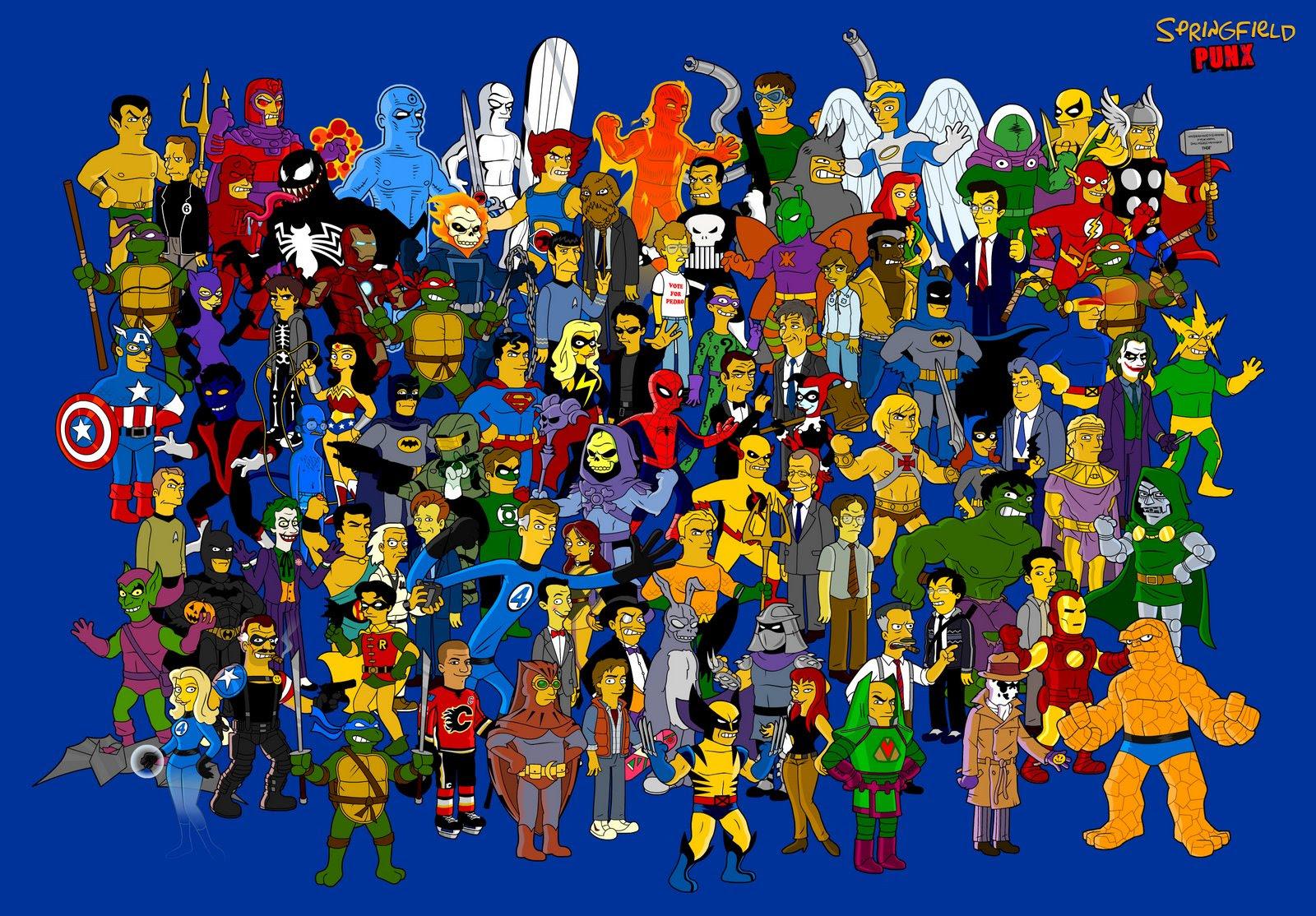 Dibujos Estilo Los Simpson Varias Personalidades