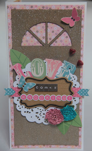 """""""Love Comes Knocking"""" card a"""