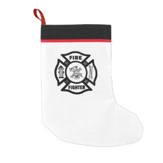 Firefighter Small Christmas Stocking