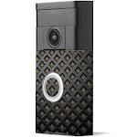 MightySkins RIVD-Black Wall Skin for Ring Video Doorbell - Black Wall