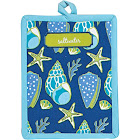 Kay Dee Blue and Green Saltwater Shells Kitchen Pot Holder R4072