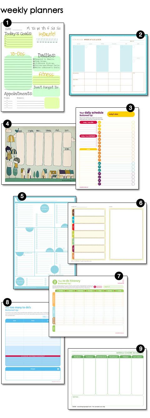 Free Weekly Planner Printables
