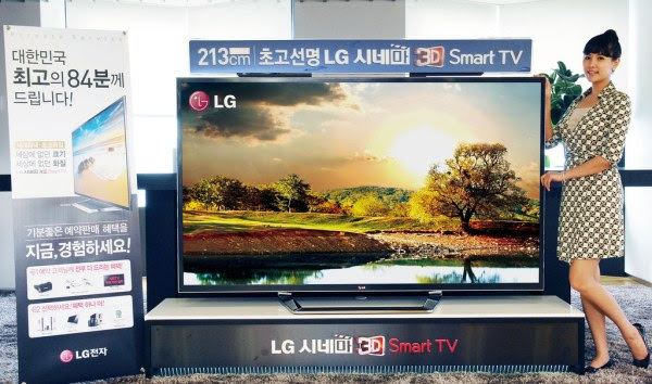 LG 84inch 'ultra definition' 4K HDTV goes on sale in limited quantities