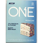 One Protein Bar Birthday Cake 4 Count