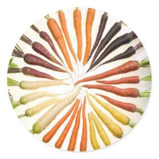Rainbow Multicolored Carrots sticker