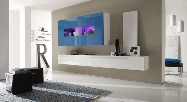 Modern Wall Unit TV Media Entertainment Center Jazz Composition 4 ...