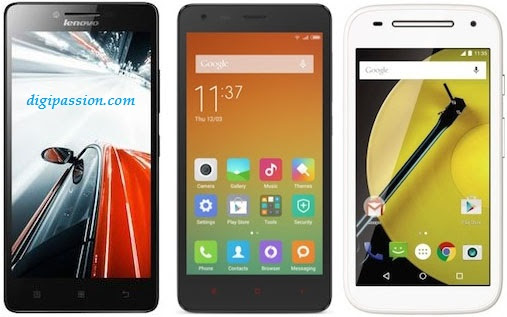 Lenovo A6000 vs Xiaomi Redmi 2 vs Moto E (2nd Gen.) – the battle of affordability