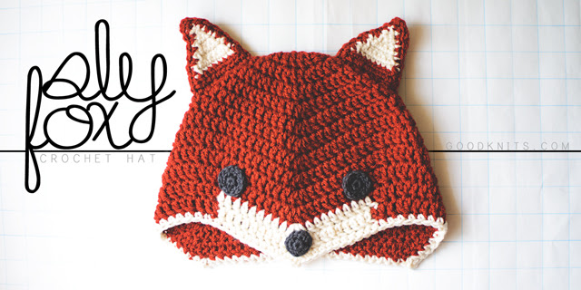 Crochet a fox hat