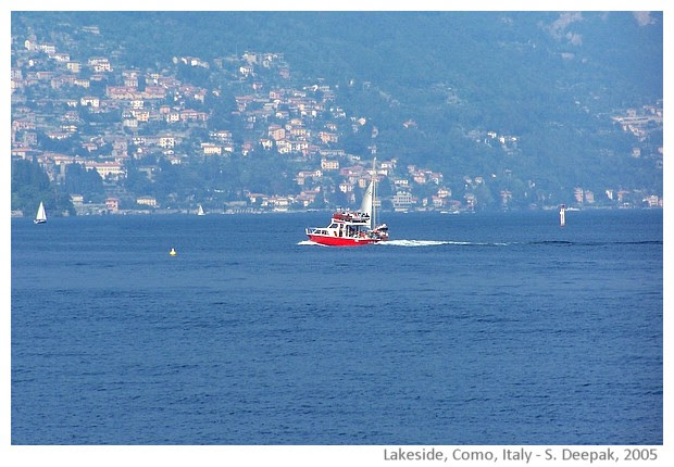 Como lakeside, Italy - images by Sunil Deepak, 2005