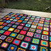 Black Edged Retro Granny Square Blanket