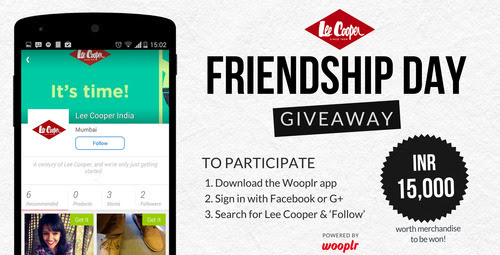 Friendship Day Giveaway 2014 with Lee Cooper India