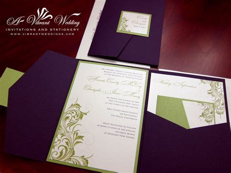 pocket fold invitation ? A Vibrant Wedding
