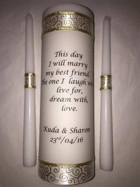 Wedding Unity Candle Set, Ceremony Candle, Personalized