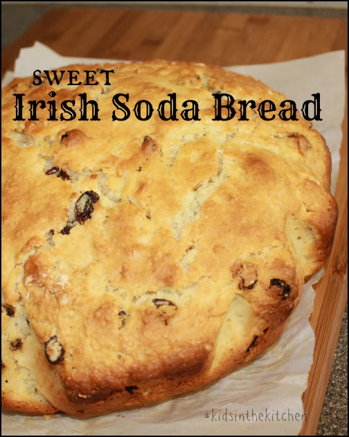 Sweet Irish Soda Bread #Recipe #KidsintheKitchen