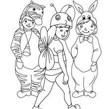 Zebra Biene Und Kaninchen Kostume Zum Ausmalen Zum Ausmalen De Hellokids Com