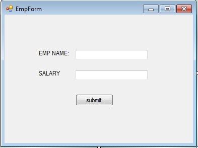 ADO.NET SAMPLE APPLICATION_FORM