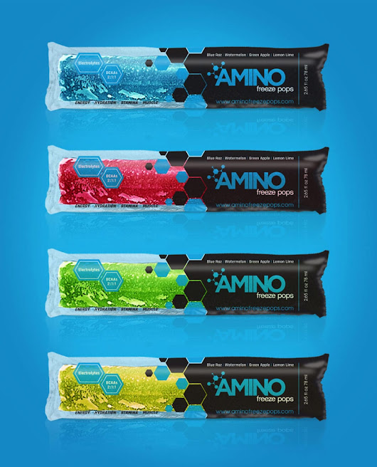 Packaging Design for a Florida Supplement Company, Amino Freeze Pops