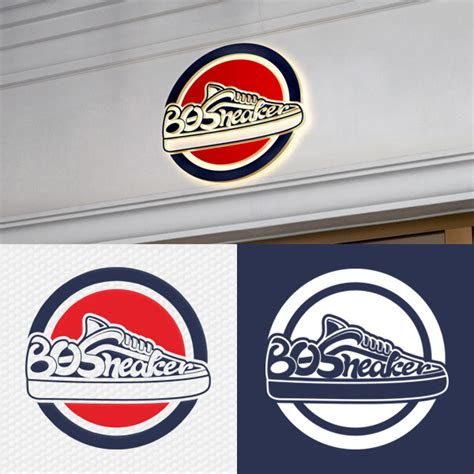 deskripsi desain logo  toko  sneakers
