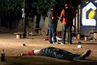 La escena de un crimen  en Sinaloa. Foto: Juan Carlos Cruz