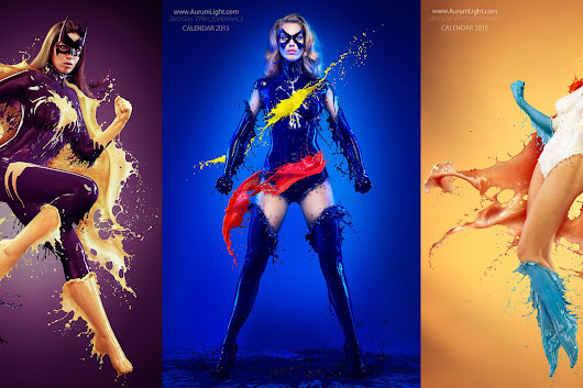 Photos of 'Splash Heroes' Who Wear Costumes Made of Milk… and Nothing Else (NSFW)
