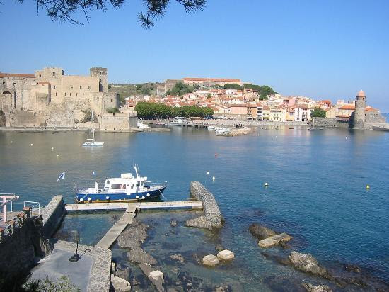 Collioure port from restaurant Neptune