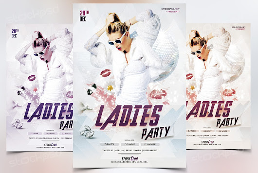 Ladies Party -Download Free PSD Flyer Template - Stockpsd.net