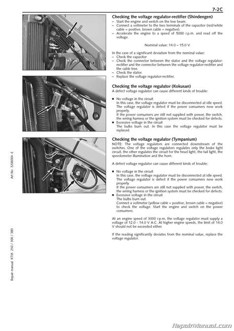 1999 2003 KTM 250-380 SX MXC EXC 2-stroke Engine Manual