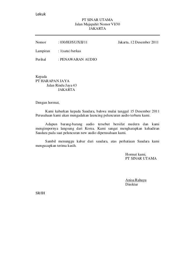 contoh surat undangan bentuk lurus surat p
