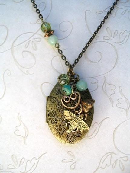 Honey Bee Locket Necklace