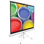 """Pyle Home Floor-standing Portable Tripod Manual Projector Screen (50"""")"""