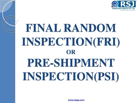 RSJ Final Random Inspection