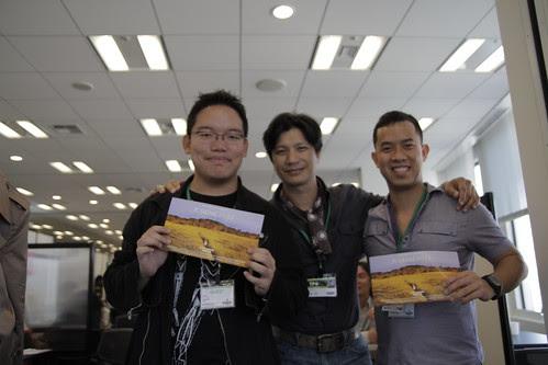 Dustin Nguyen, Ming Jin and I, between TGP meetings