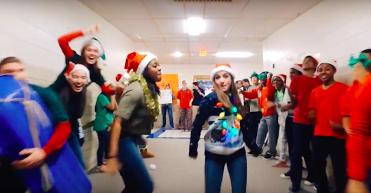 High school stages festive lip dub to 'All I Want for Christmas is You'