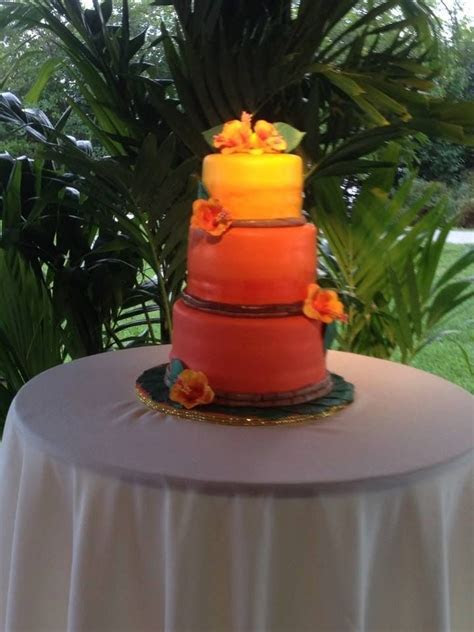 16 best Karen's Sunset Wedding Cake images on Pinterest
