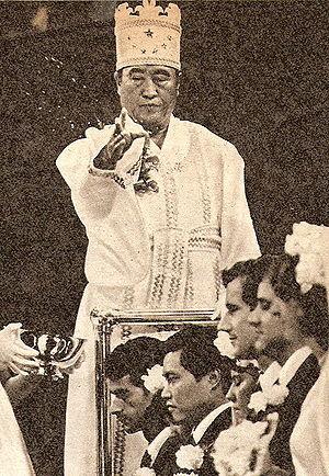 sun myung moon lider de ALADO iglesia de la un...