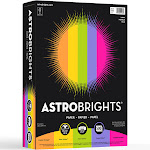 """Astrobrights Colored Paper, 8.5"""" x 11"""", 24 lb, Letter - 500 sheets"""