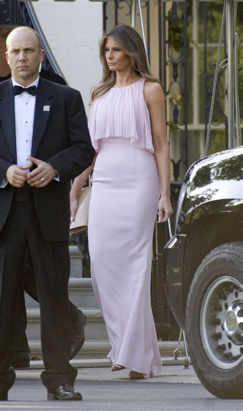 Melania Trump?s Fashion for Mnuchin Wedding Billowed in