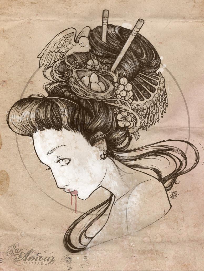 Cool Tattoo Zone Japanese Geisha Tattoo Designs Gallery Tattoomagz