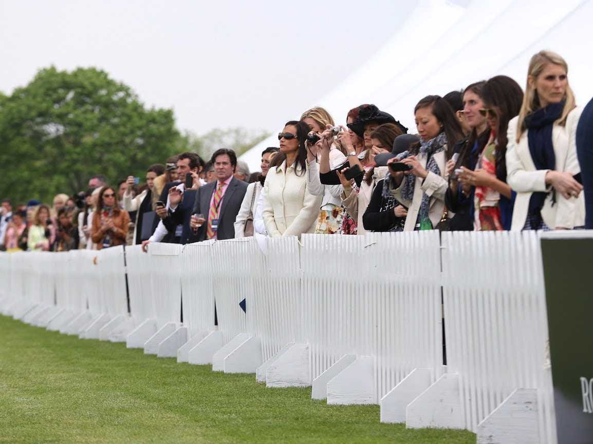 polo match wealthy crowd