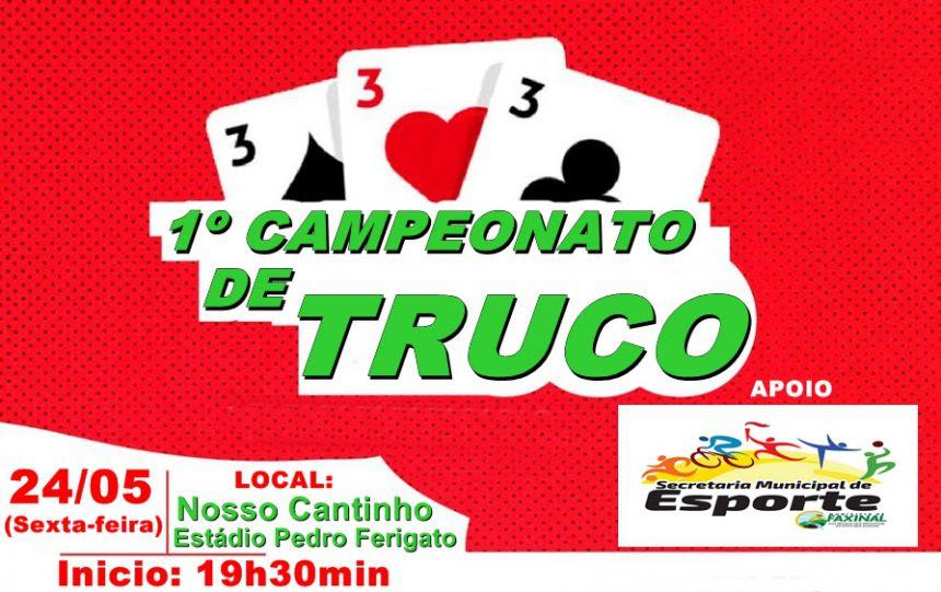 1º Campeonato de truco começa nesta sexta-feira, 24 de maio