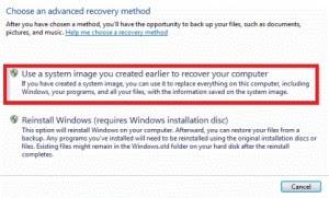 Windows 7 Advance Recovery